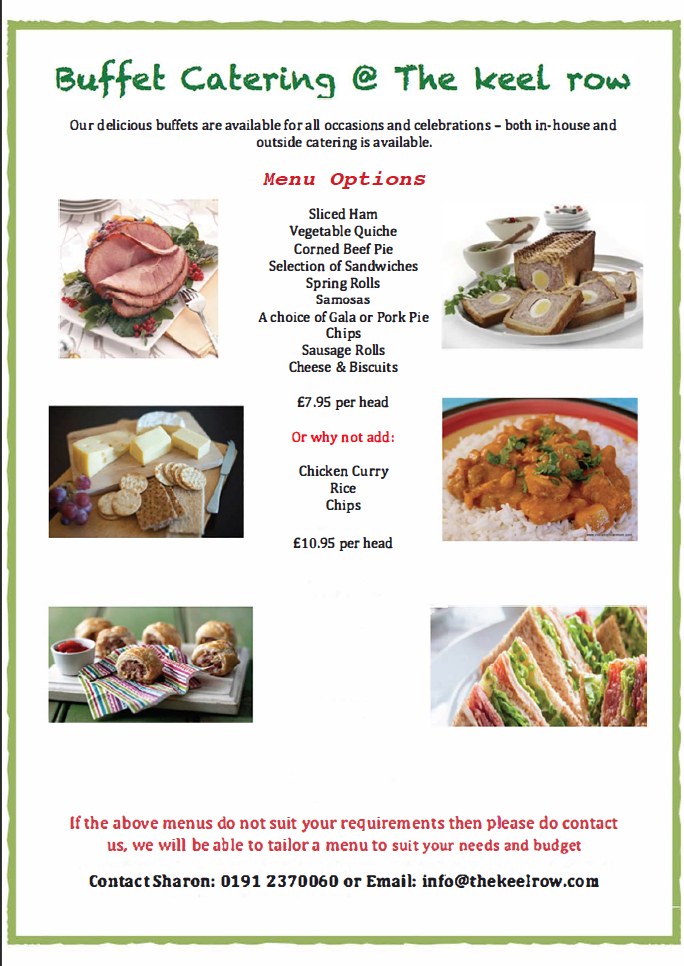 Keel Row Buffet Menu